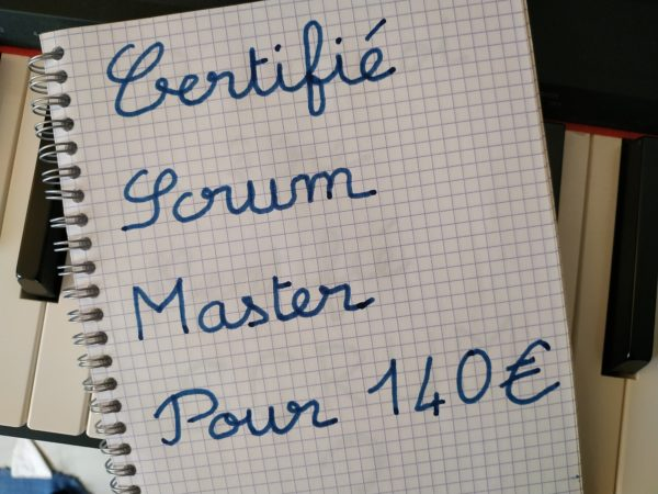 certifié scrum 140 euros